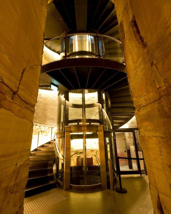 Saunders & Ward's welded steel staircase, MONA http://www.securityelectronicsandnetworks.com